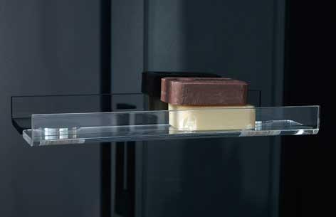 hylde til brusekabine uden skruer Produktblad: Dampkabine Thor hylde til brusekabine uden skruer